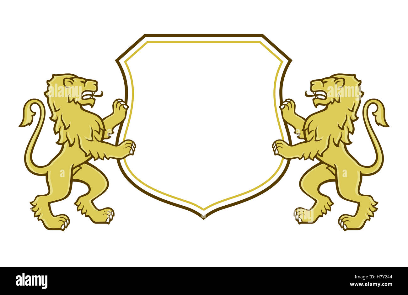 lion coat of arms logo stock photo royalty free image