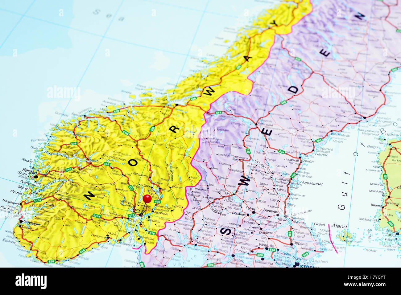 Oslo Pinned On A Map Of Norway Stock Photo Royalty Free Image - Where is norway on a map