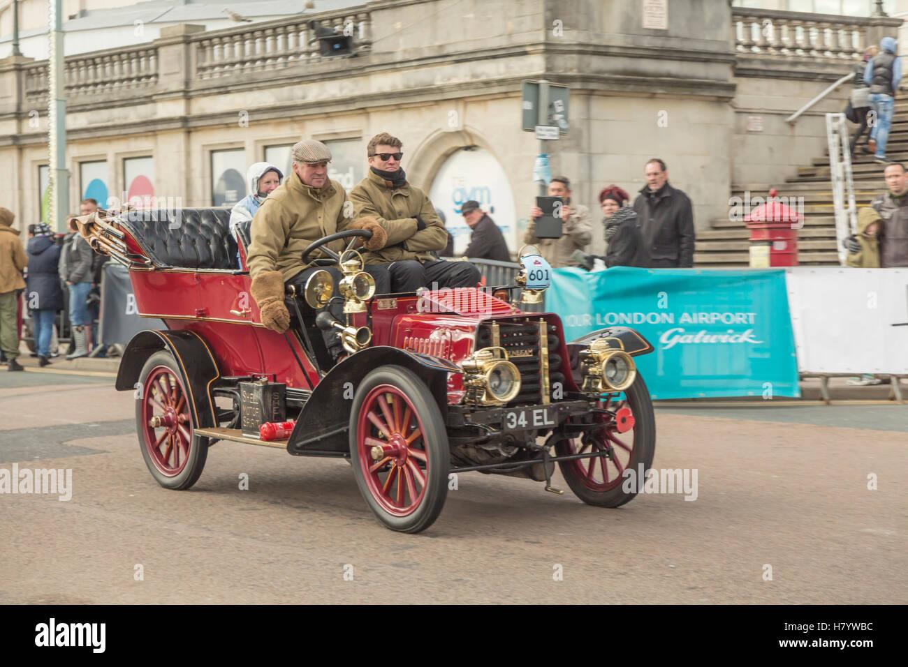 Bonham`s London to Brighton Veteran Car Rally Stock Photo, Royalty ...