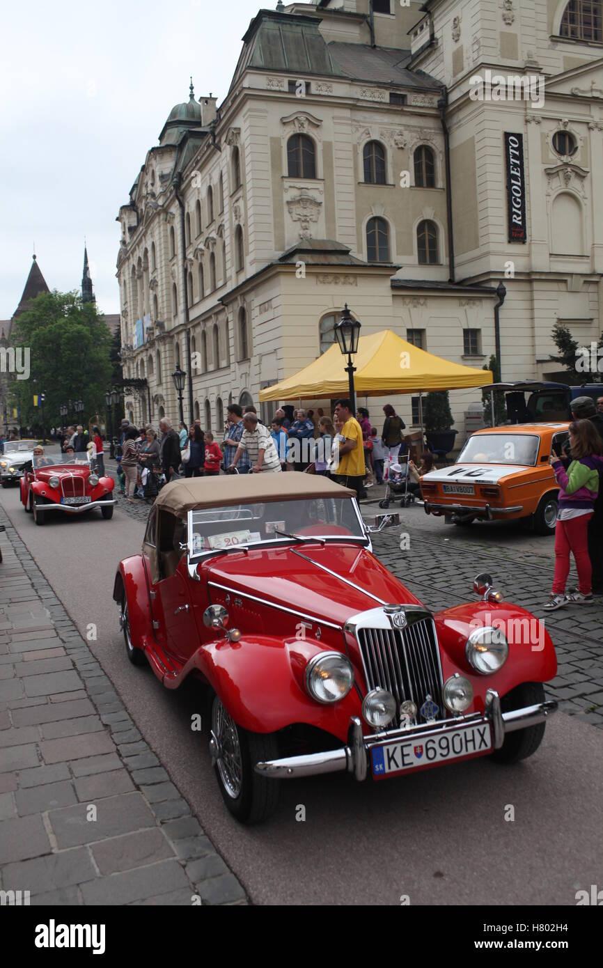 Mg tf stock photos mg tf stock images alamy veteran car mg tf 1500 at the cassovia retro show in the historic centre of kosice vanachro Gallery