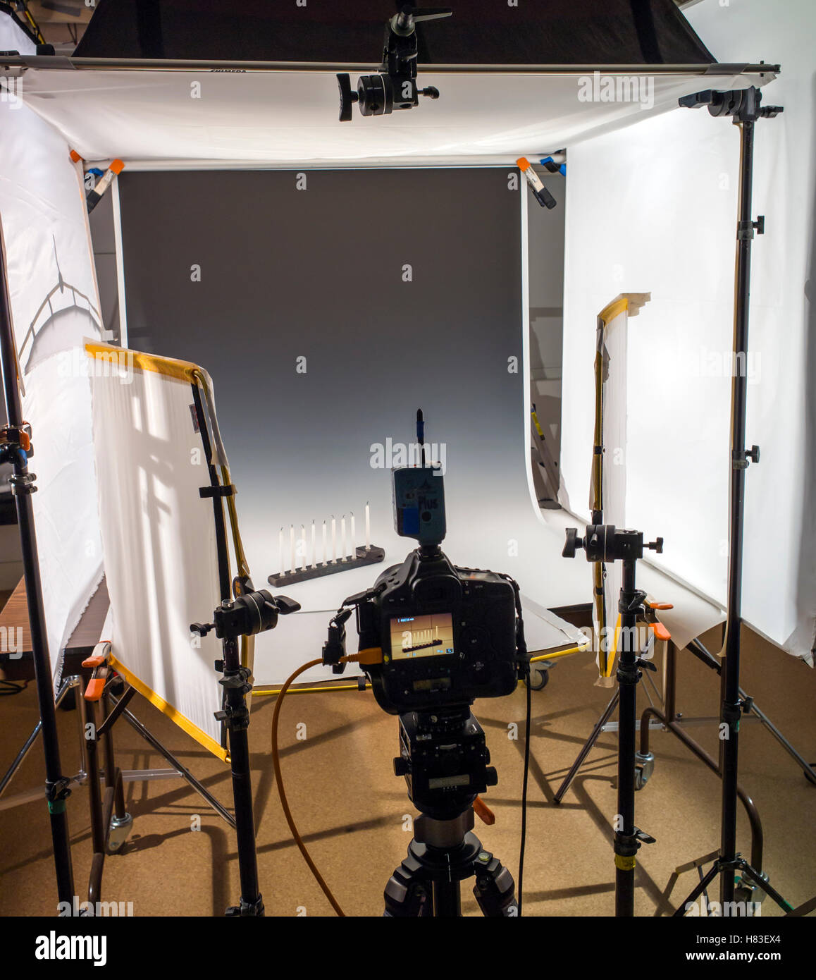 Lighting and camera equipment in a commercial photography studio lighting and camera equipment in a commercial photography studio aloadofball Images