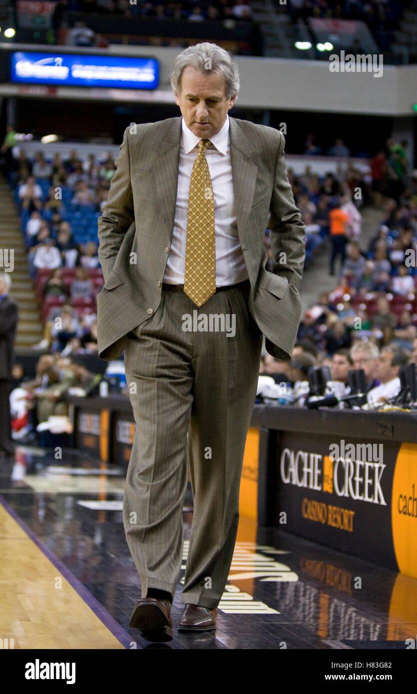 February 28 2010 Sacramento CA USA Sacramento Kings coach