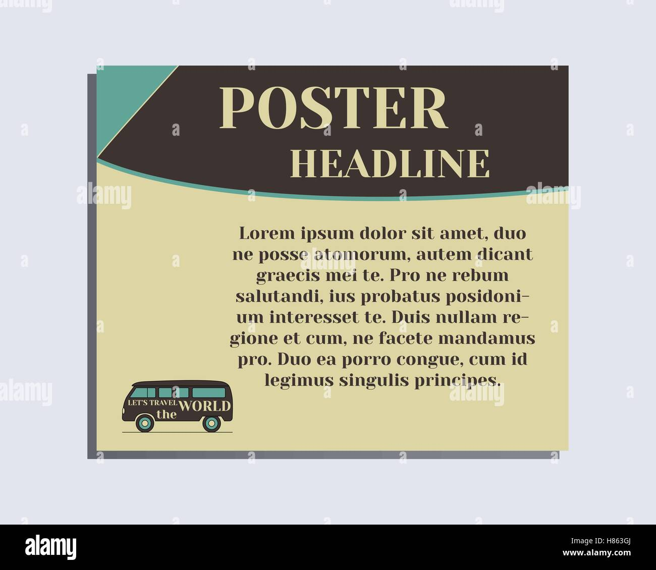 Poster design layout templates - Stock Vector Travel And Camping Poster Design Layout Template Rv Park And Campground Triangle Abstract Style Retro And Vintage Colors Design