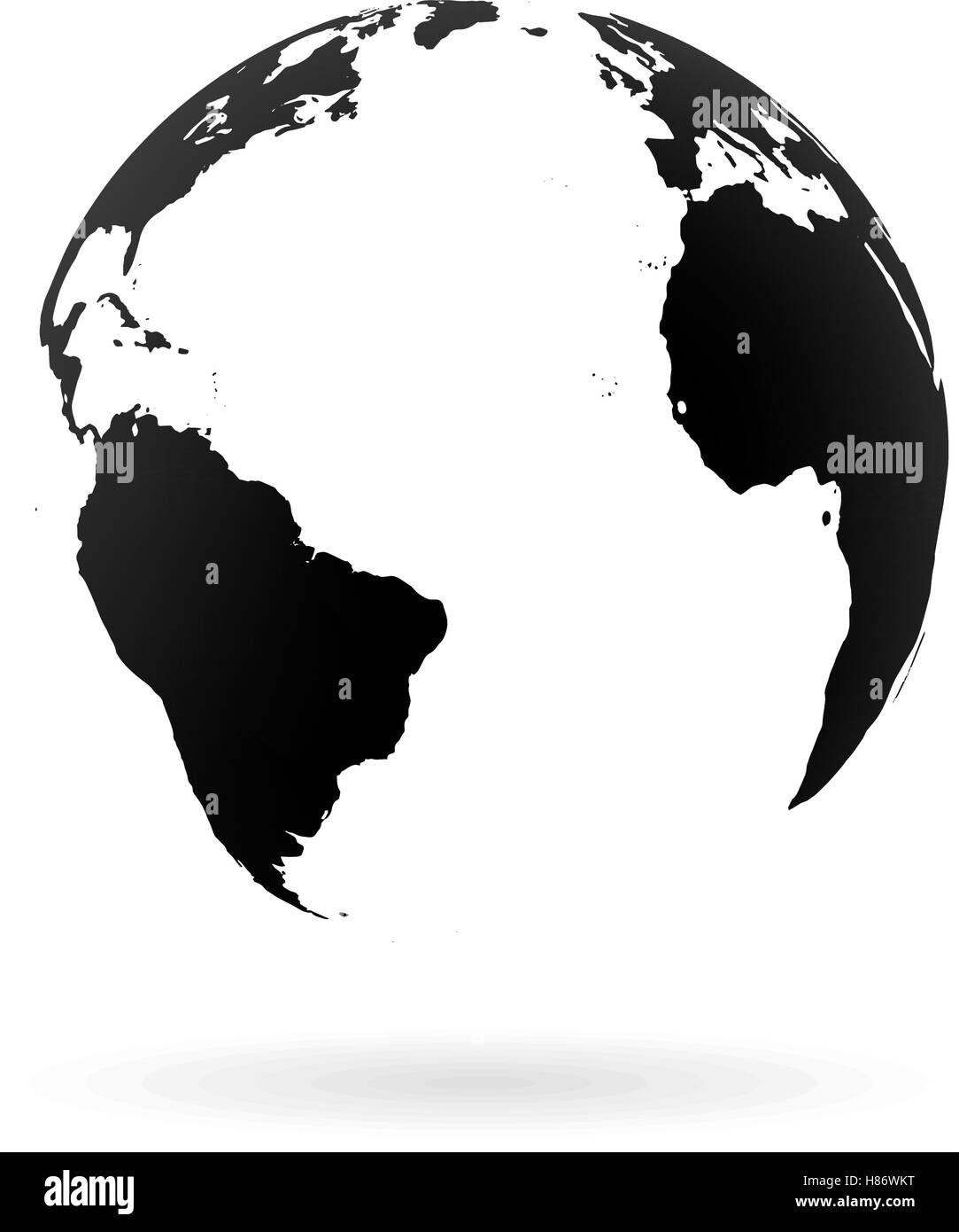 highly-detailed-earth-globe-symbol-north