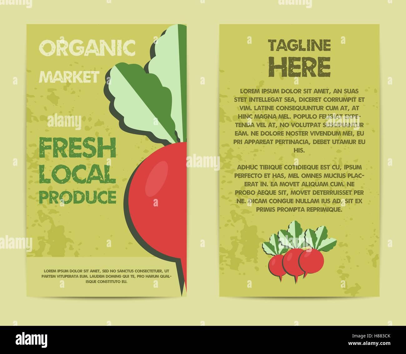 Stylish Farm Fresh flyer, template or brochure design. Mock up ...