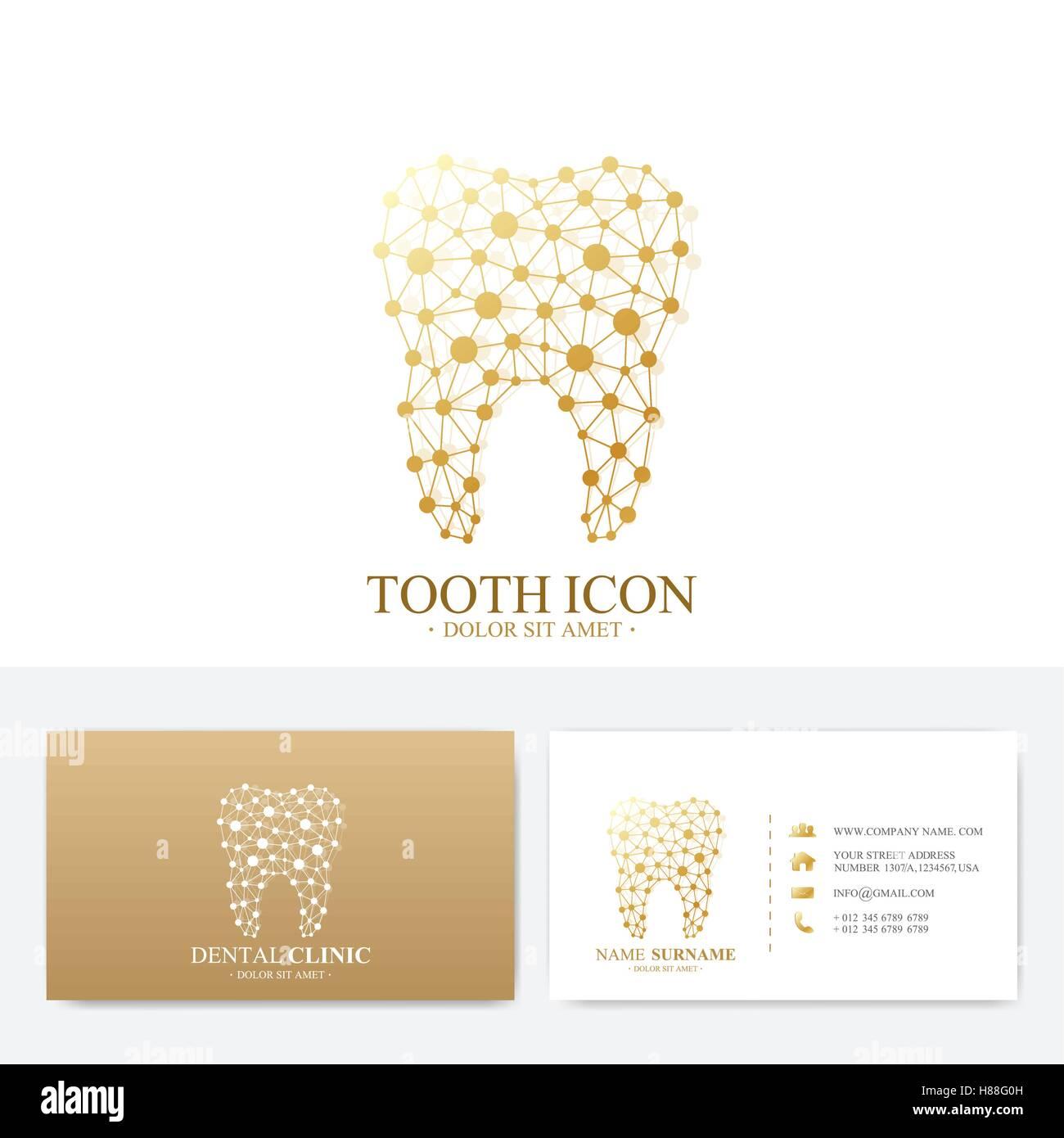 Premium Business Card Print Template Visiting Dental Clinic Card - Business card printing template