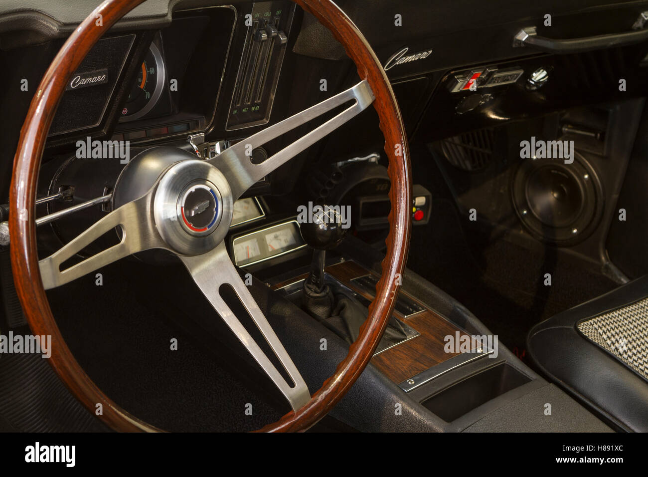 Dashboard of 1969 Chevrolet Camaro Stock Photo, Royalty Free Image ...
