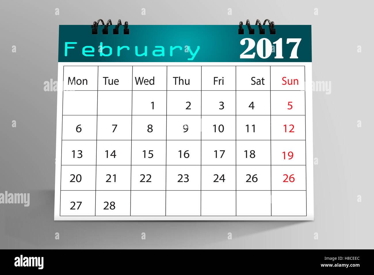 Desktop Calendar Design : Desktop calendar design february stock photo