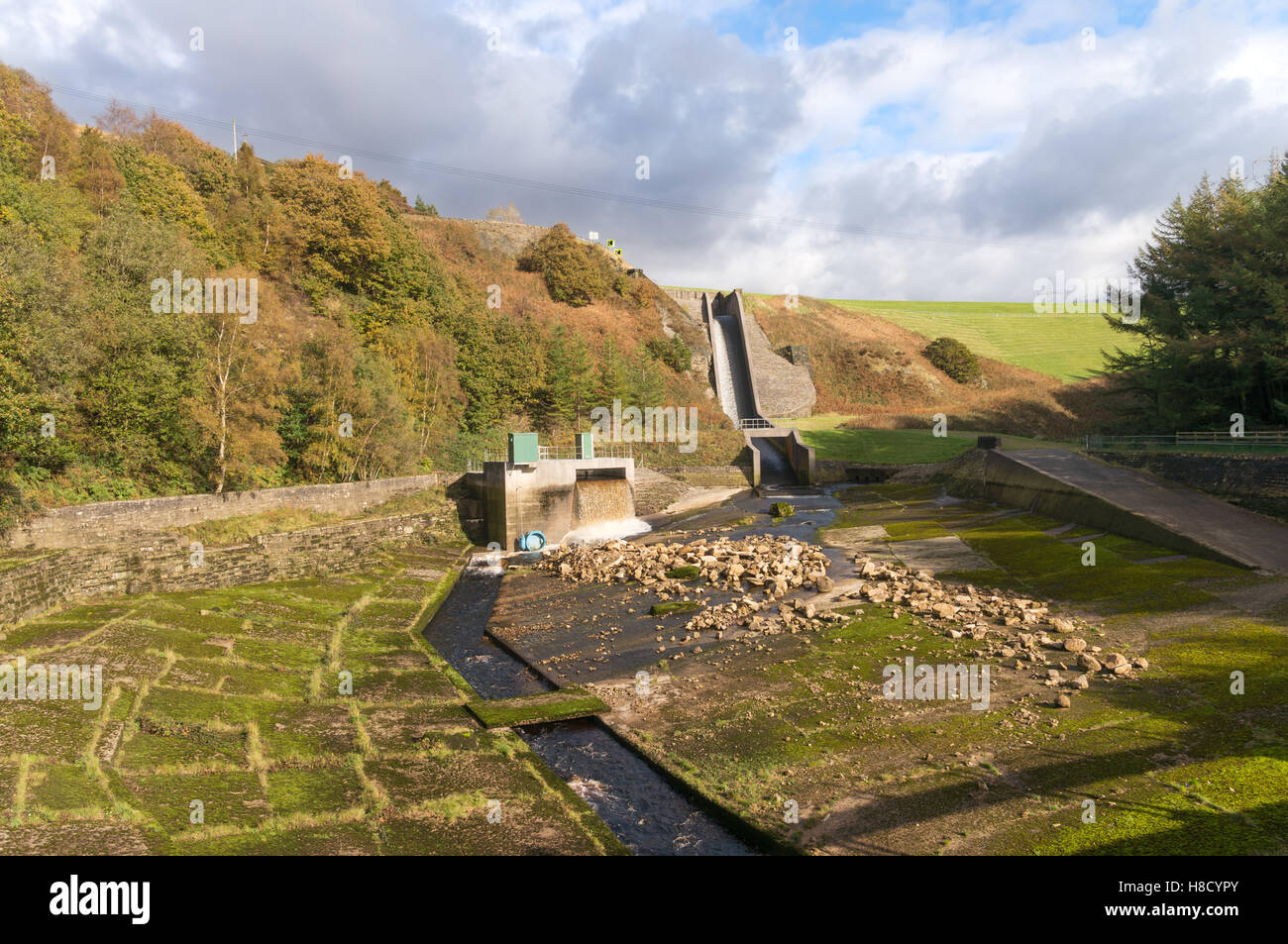 spillways and etherow pool between the woodhead and torside stock