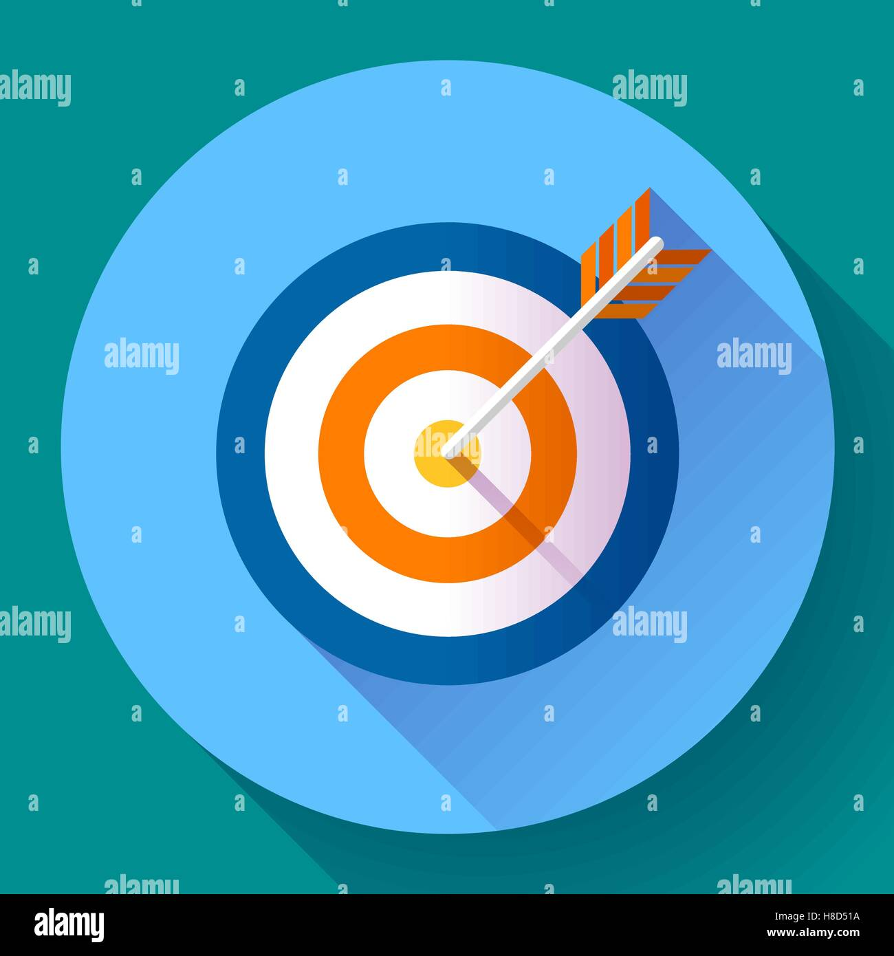 Target marketing icon target with arrow symbol modern flat target marketing icon target with arrow symbol modern flat design concept for web banners web sites printed materials infog buycottarizona Image collections
