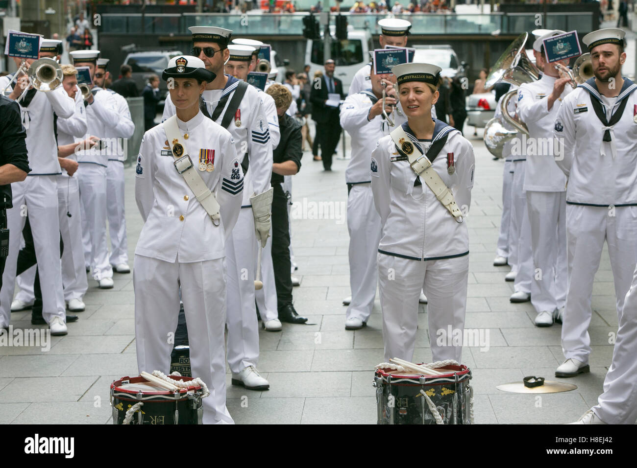 Royal Australian Navy band at the Remembrance Armistice ...