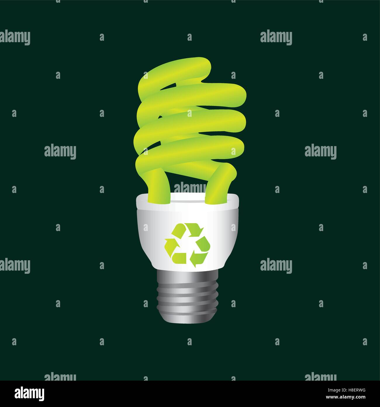 recycle symbol eco bulb design vector illustation eps 10 Stock ...