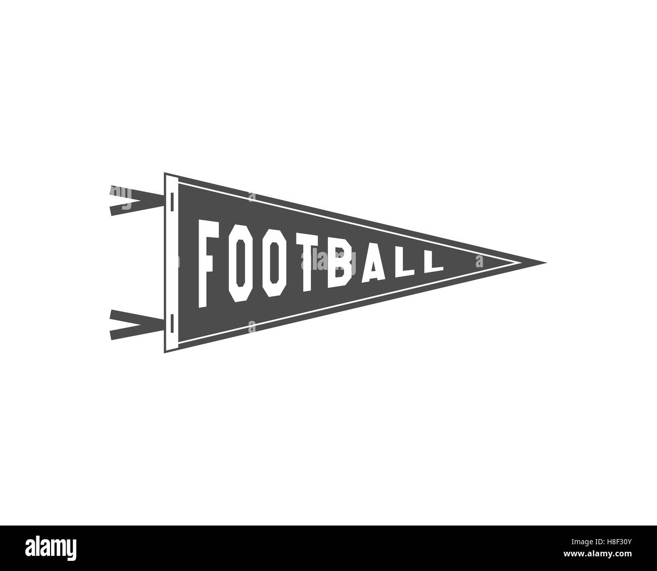 College football pennant banner icon sport flag training camp college football pennant banner icon sport flag training camp emblem university team label element monochrome design template sign pronofoot35fo Images