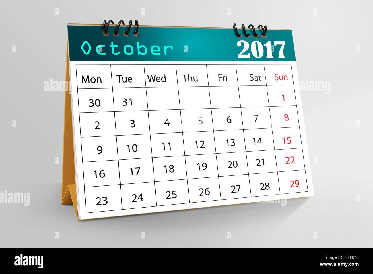 October Calendar Design : Desktop calendar design october stock photo royalty