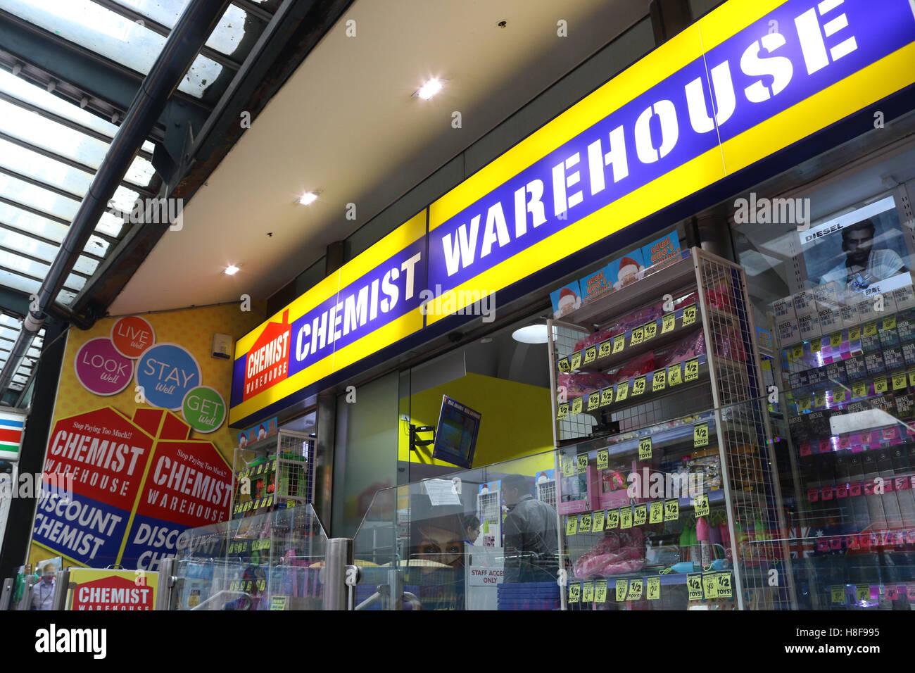 Chemist Warehouse Discount George Street Sydney Stock Australia