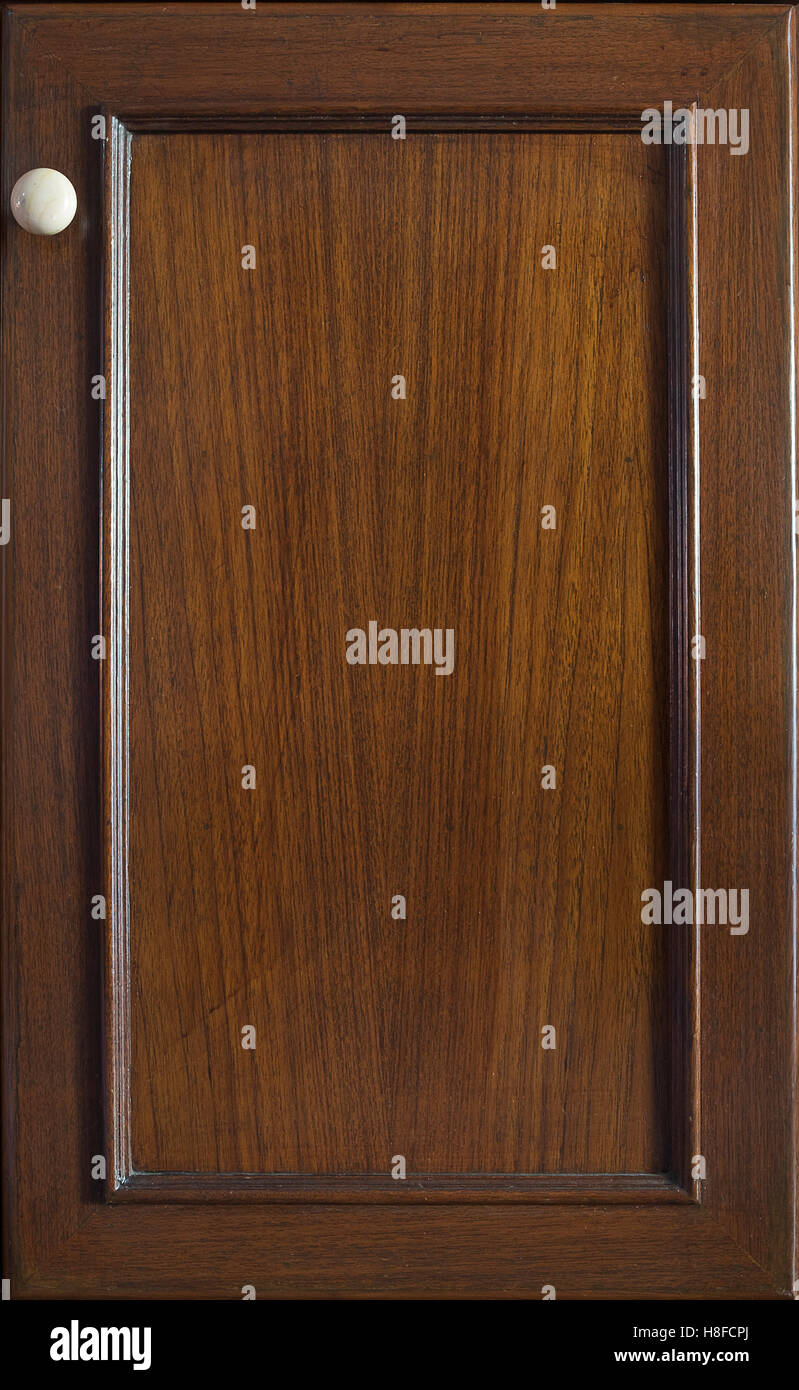 Front kitchen wooden frame cabinet door background and texture