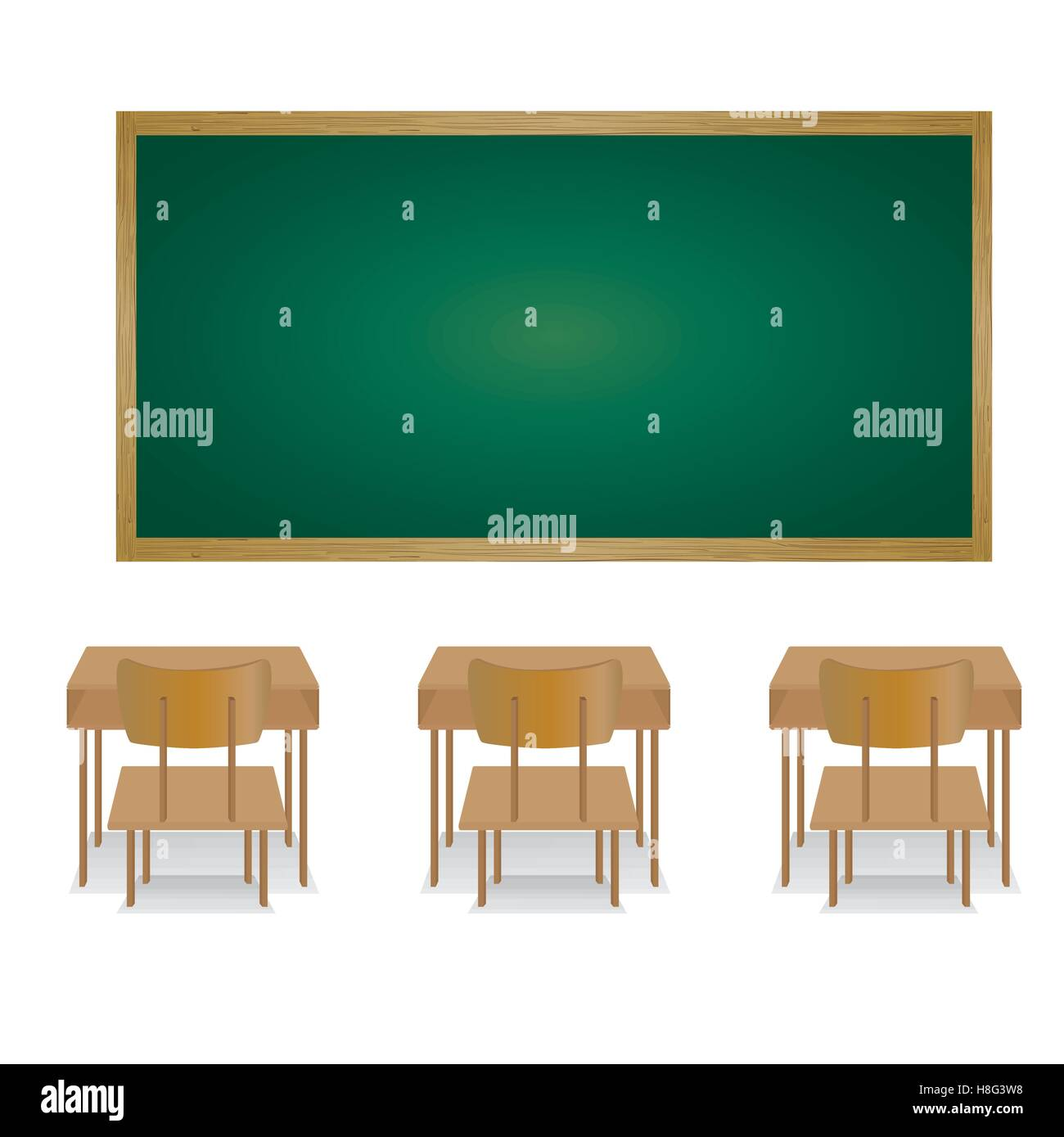 Classroom Table Chair Welcome Back To School Chalkboard Wall Indoor Elementary Drawing Picture