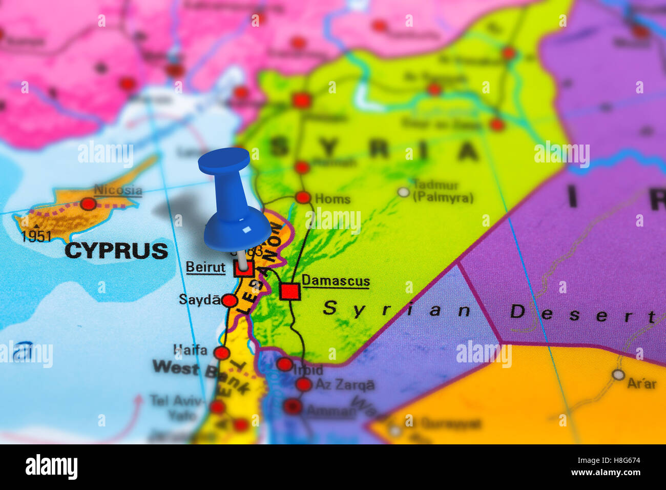 Beirut Lebanon Map Stock Photo Royalty Free Image Alamy - Lebanon map