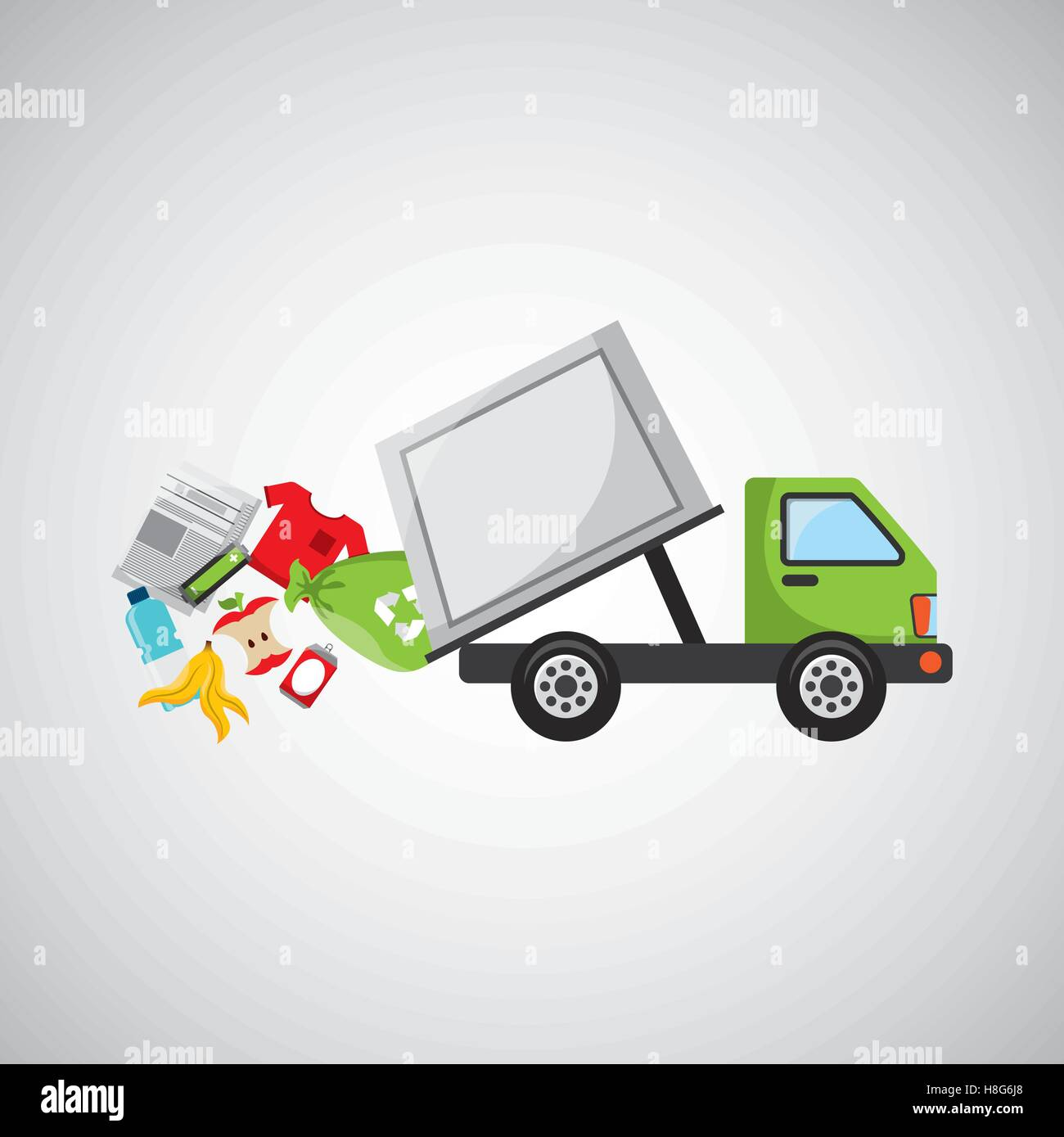 garbage truck recycle icon design vector illustration eps 10 Stock ...