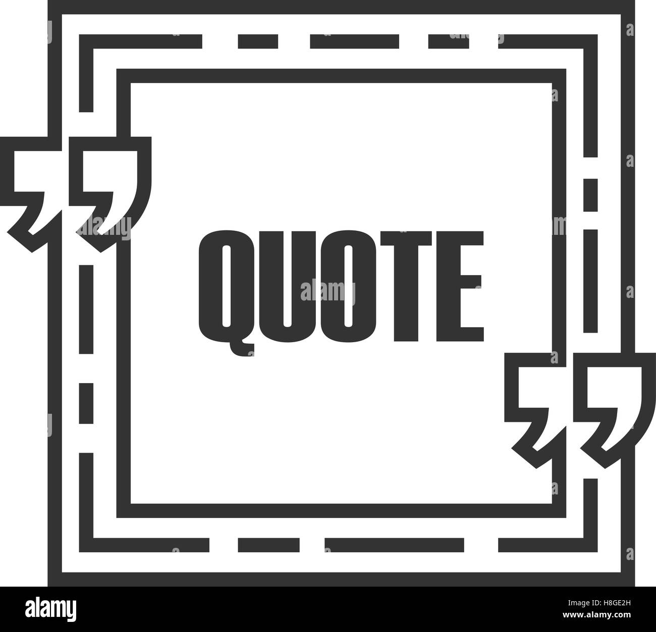Quote sign icon. Quote blank template. Speech bubble template ...