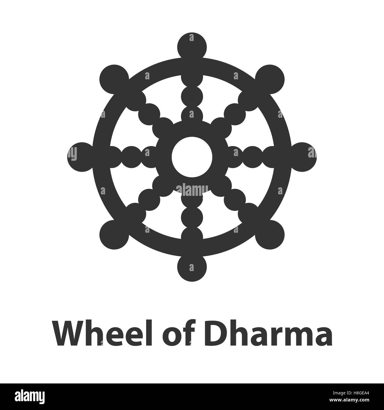 Dharma chakra stock photos dharma chakra stock images alamy icon of wheel of dharma symbol buddhism religion sign stock image biocorpaavc Images