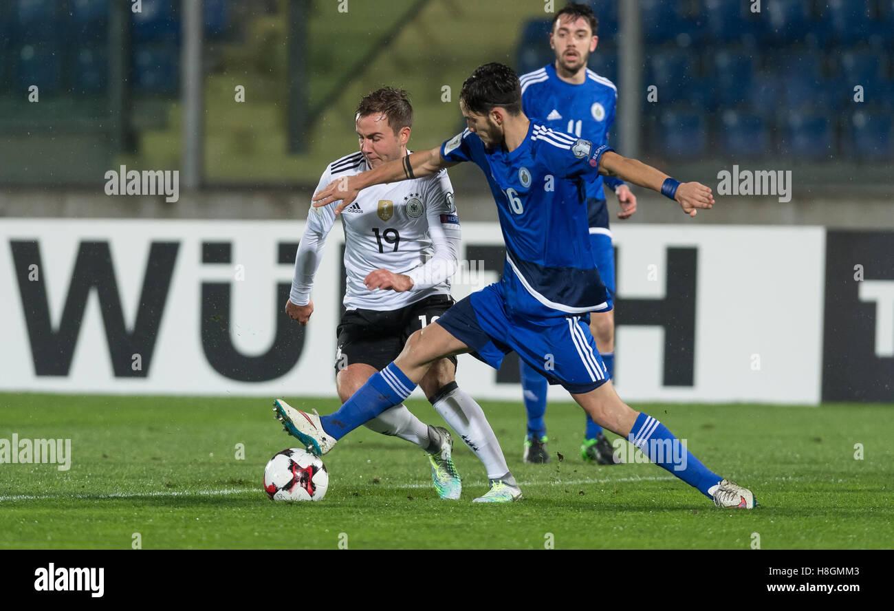 Serravalle, San Marino. 11th Nov, 2016. Germany\'s Mario Goetze (L ...