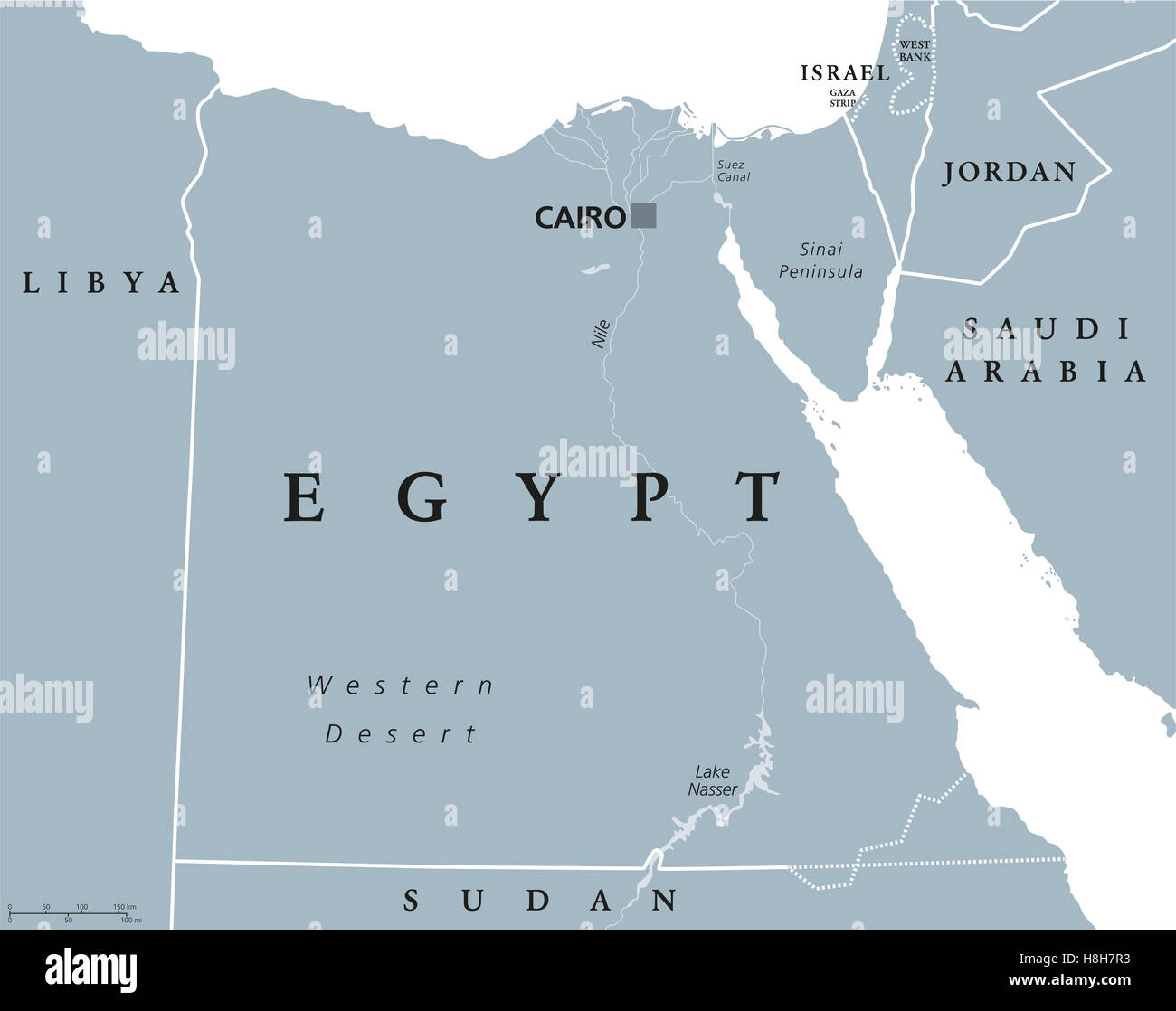 Egypt Map Stock Photos Egypt Map Stock Images Alamy - Map of egypt israel