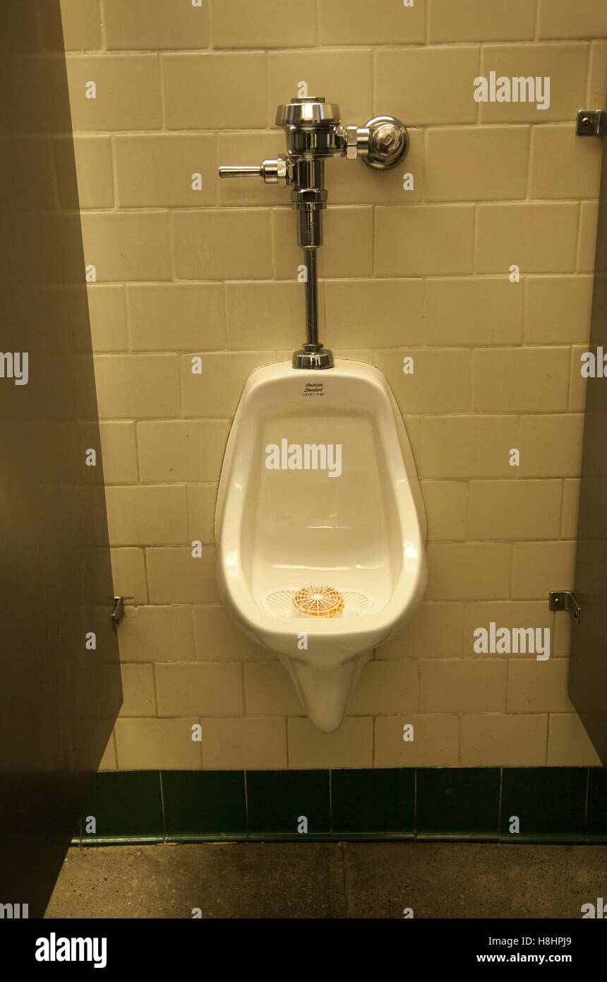 Stock Photo   Urinal In A Public Menu0027s Bathroom, NYC