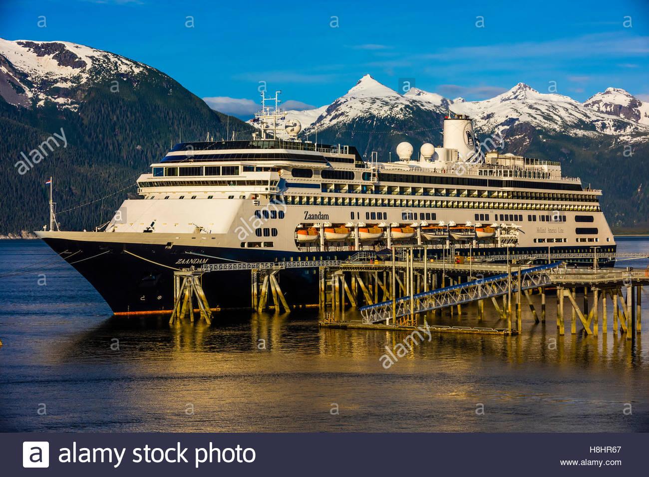 Holland America Lines MS Zaandam Cruise Ship Docked In Haines - Zaandam ship