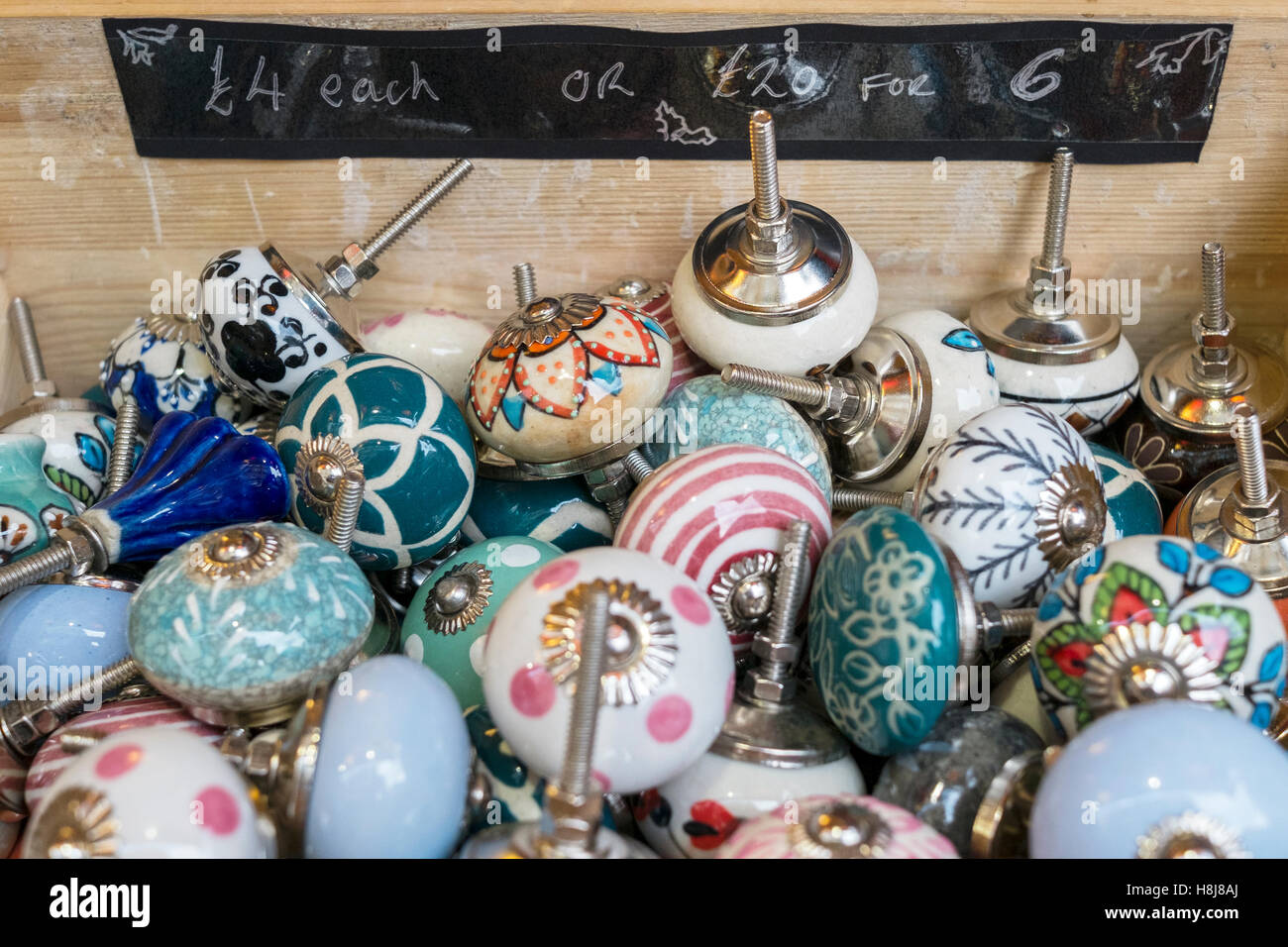 Vintage style door knobs for sale Stock Photo, Royalty Free Image ...