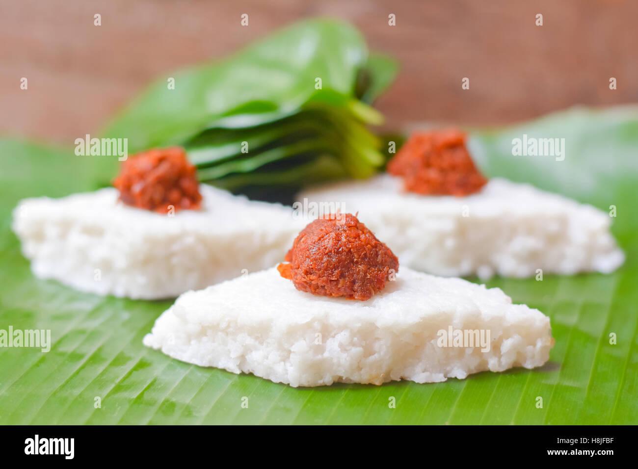 Kiribath the milk rice is a traditional sri lankan food for Authentic sri lankan cuisine