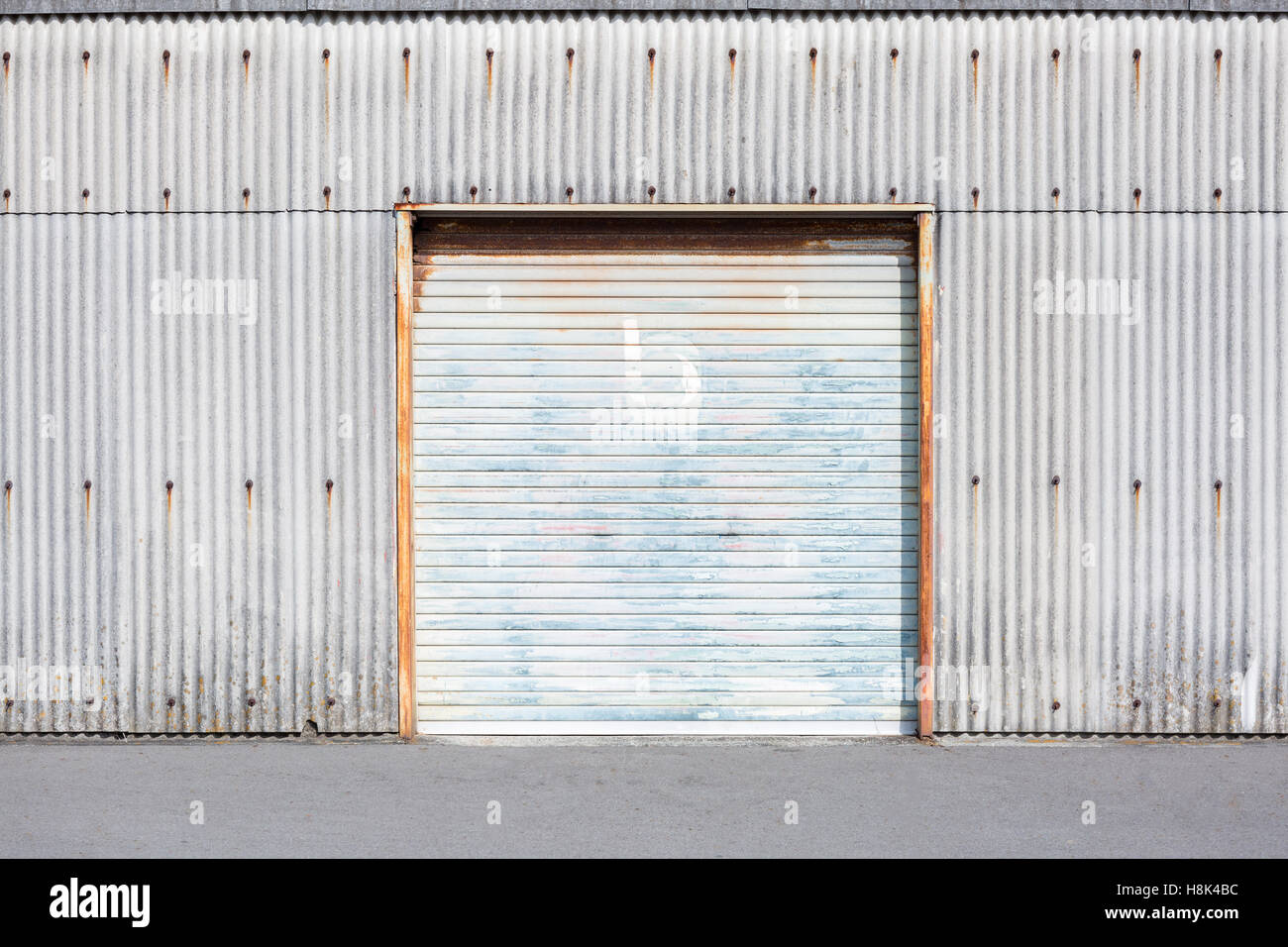 Self storage unit shutter door or roller door of factory building self storage unit shutter door or roller door of factory building use for industrial background rubansaba