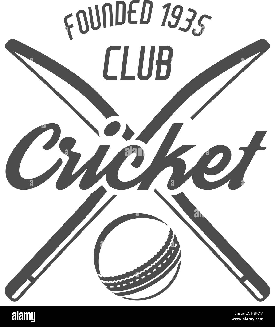cricket club emblem and design elements cricket team logo