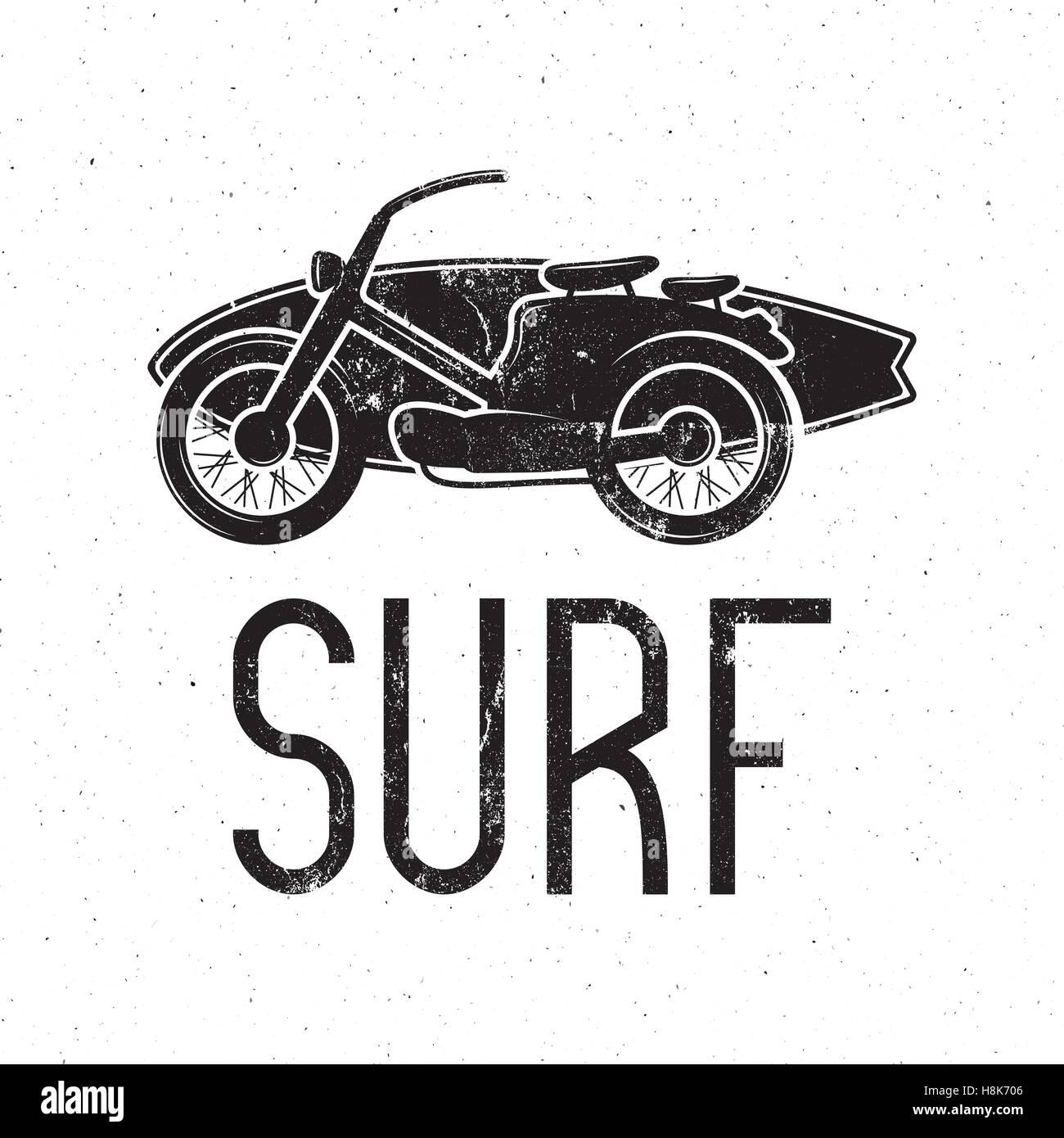Design car emblem - Stock Vector Vintage Surfing Tee Design Retro Surf Fest T Shirt Graphics And Emblem For Web Design Or Print Surfer Motorcycle Logo Design Surf Badge