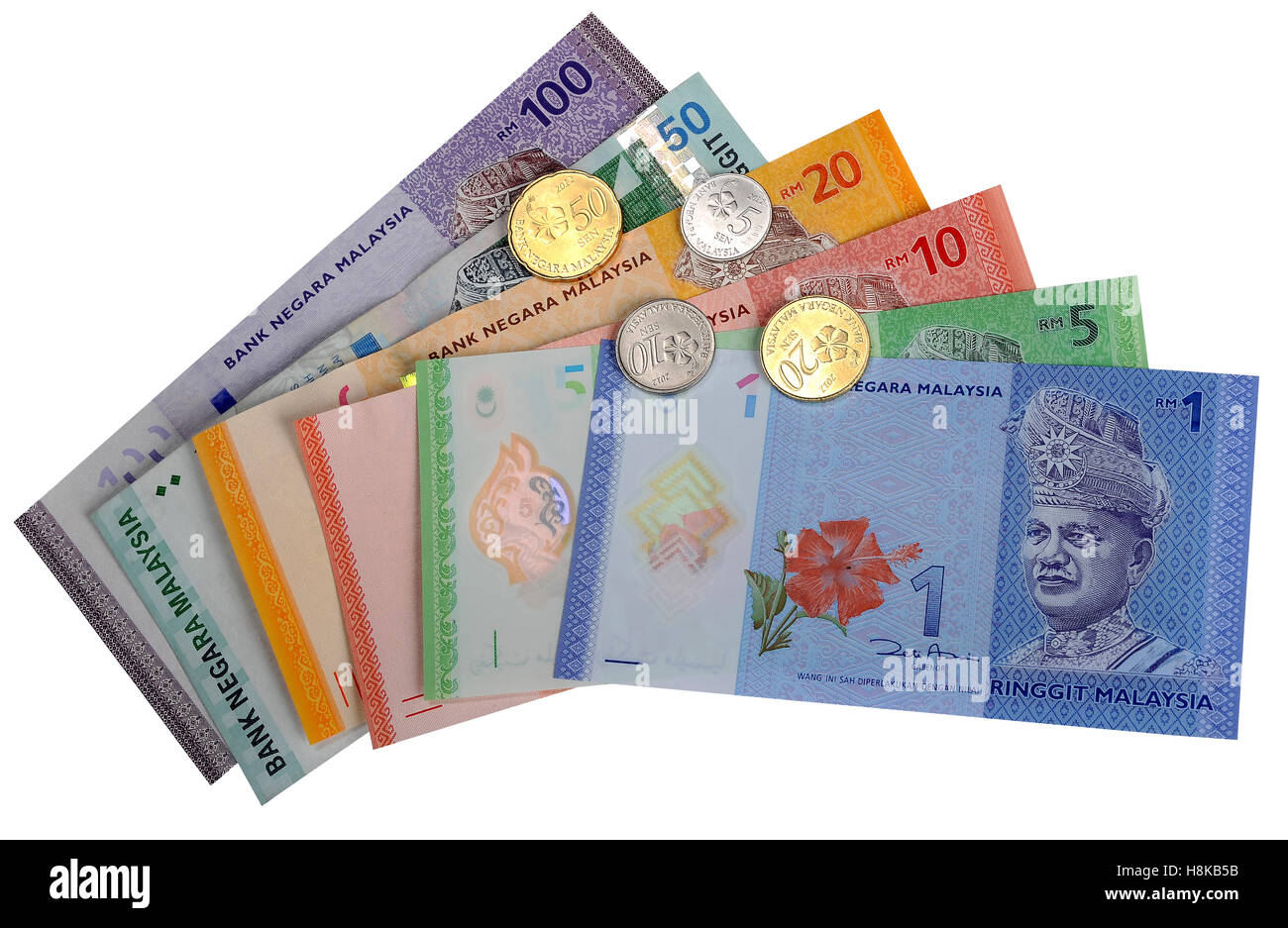 Malaysian ringgit and coins stock photo royalty free image malaysian ringgit and coins buycottarizona Image collections
