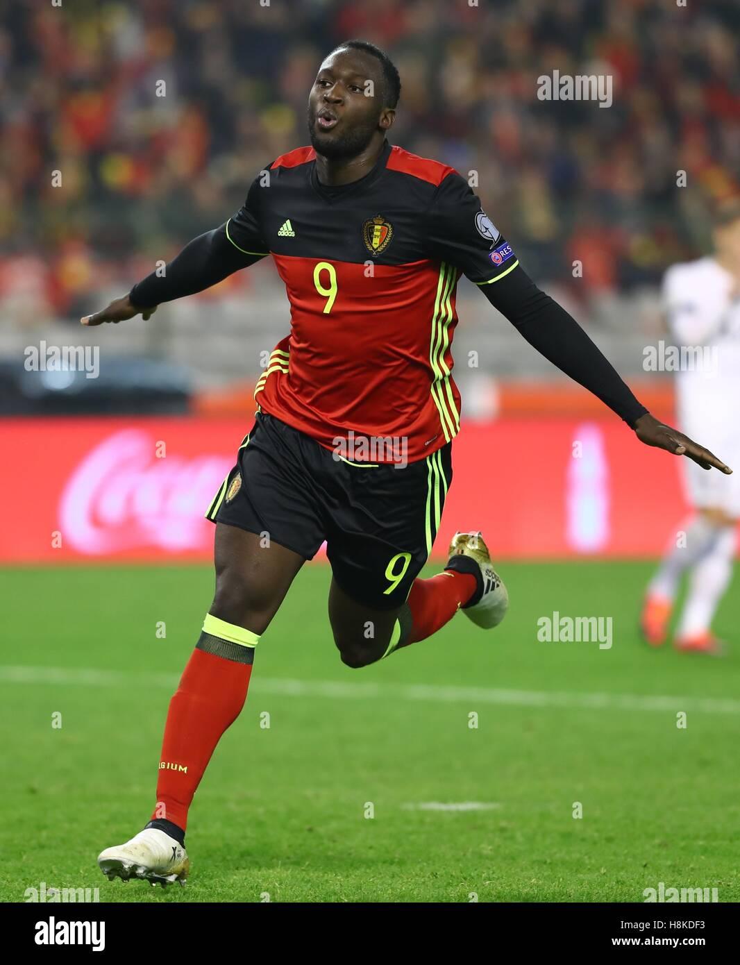 Brussels Belgium 13th Nov 2016 Belgium s Romelu Lukaku