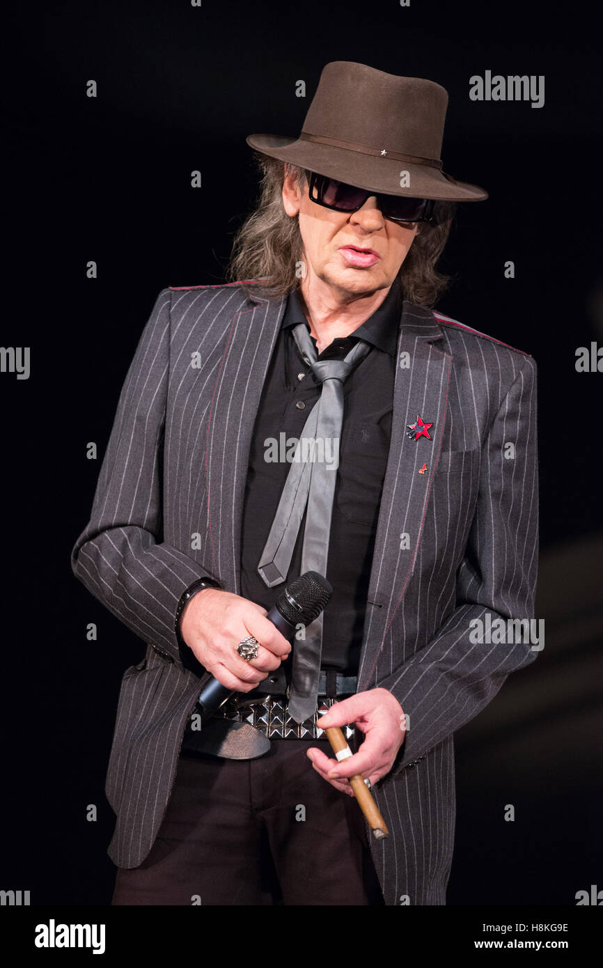 Hamburg, Germany. 11th Nov, 2016. The musician Udo Lindenberg sits on Stock Photo, Royalty Free ...