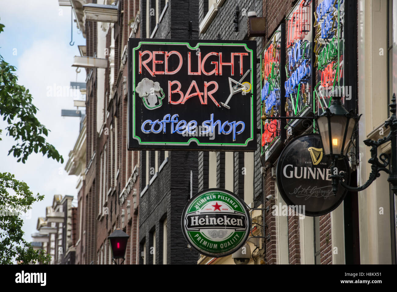 Amsterdam netherlands neon sign for the red light bar coffee shop amsterdam netherlands neon sign for the red light bar coffee shop located in the red light district aloadofball Image collections