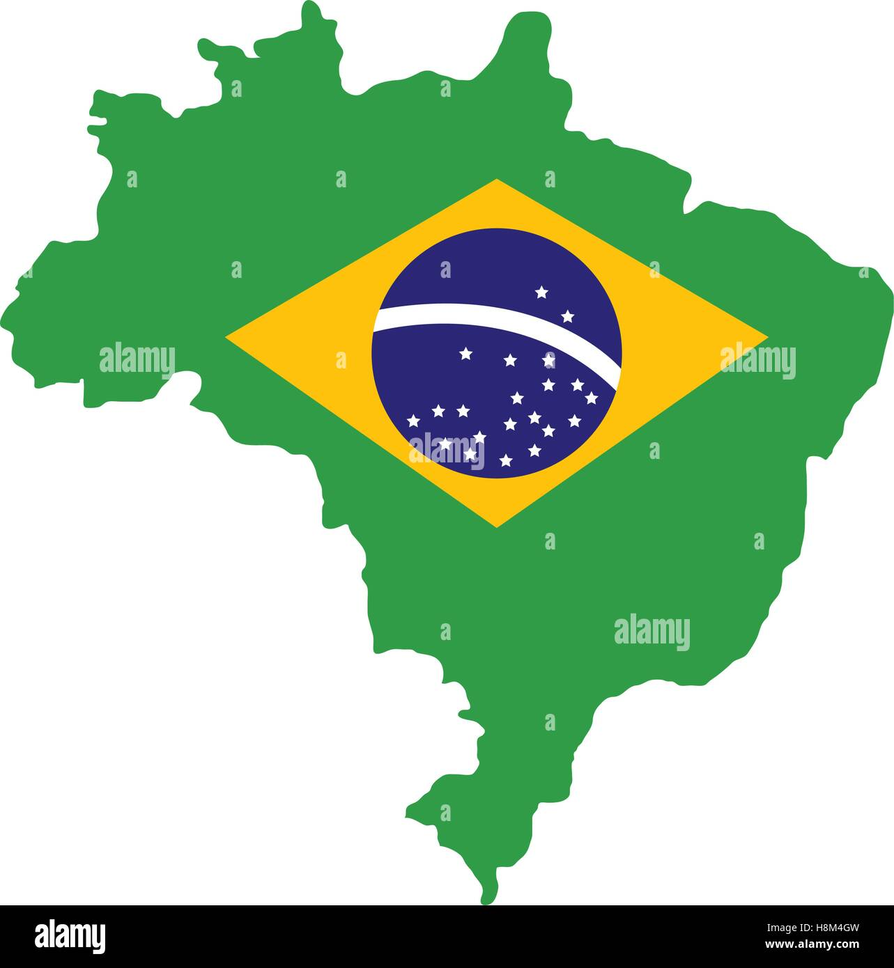 Brazil Map Geography Isolated Icon Vector Illustration Design - Brazil map illustration