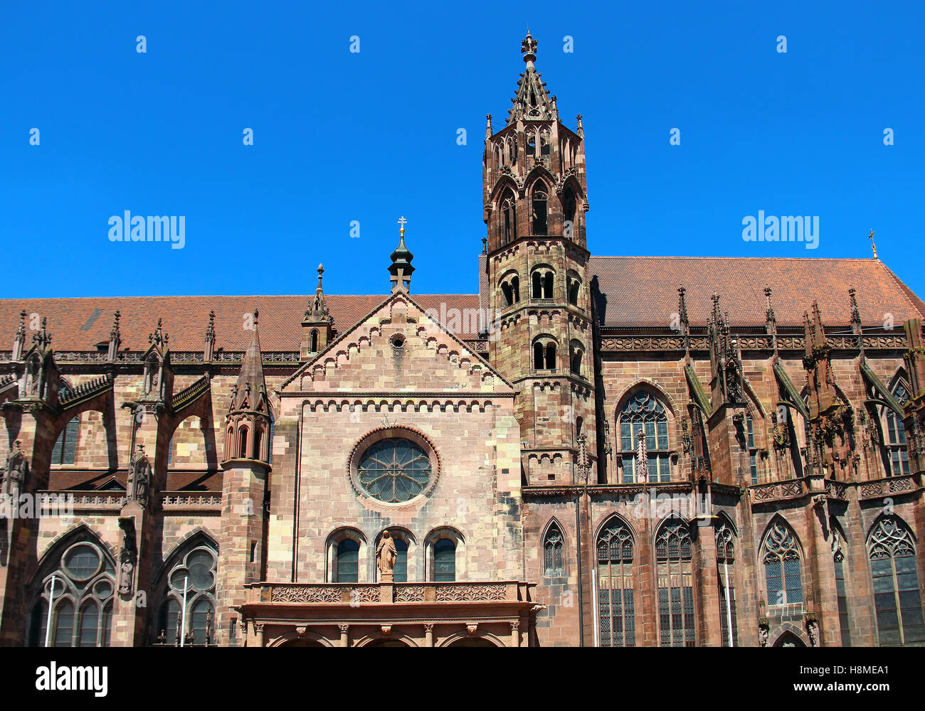 freiburg minster freiburger munster in freiburg im breisgau stock photo royalty free image. Black Bedroom Furniture Sets. Home Design Ideas