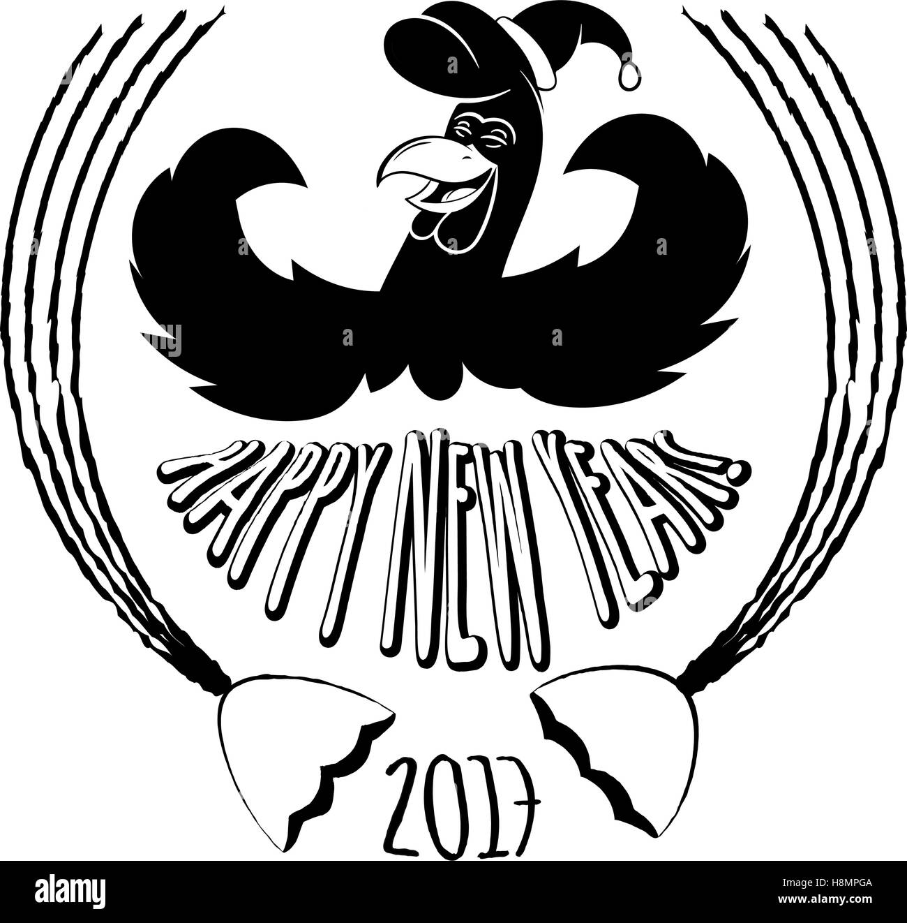 Cute rooster sketch symbol of chinese year zodiac 2017 vector cute rooster sketch symbol of chinese year zodiac 2017 vector design element for new year s design biocorpaavc