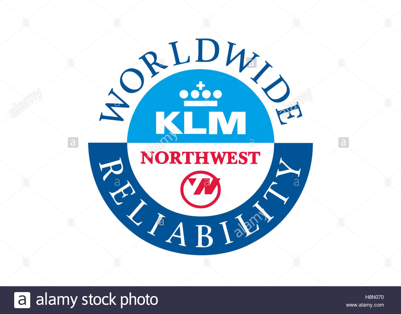 Klm northwest airlines logo stock photo 125851012 alamy klm northwest airlines logo biocorpaavc Image collections