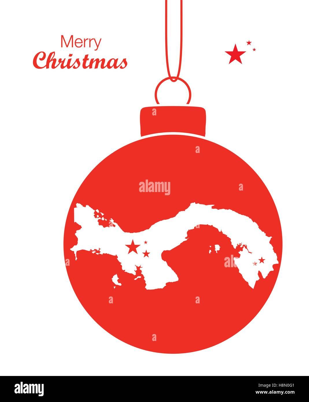 Merry Christmas Map Panama Stock Vector Art Illustration Vector - Panama map vector
