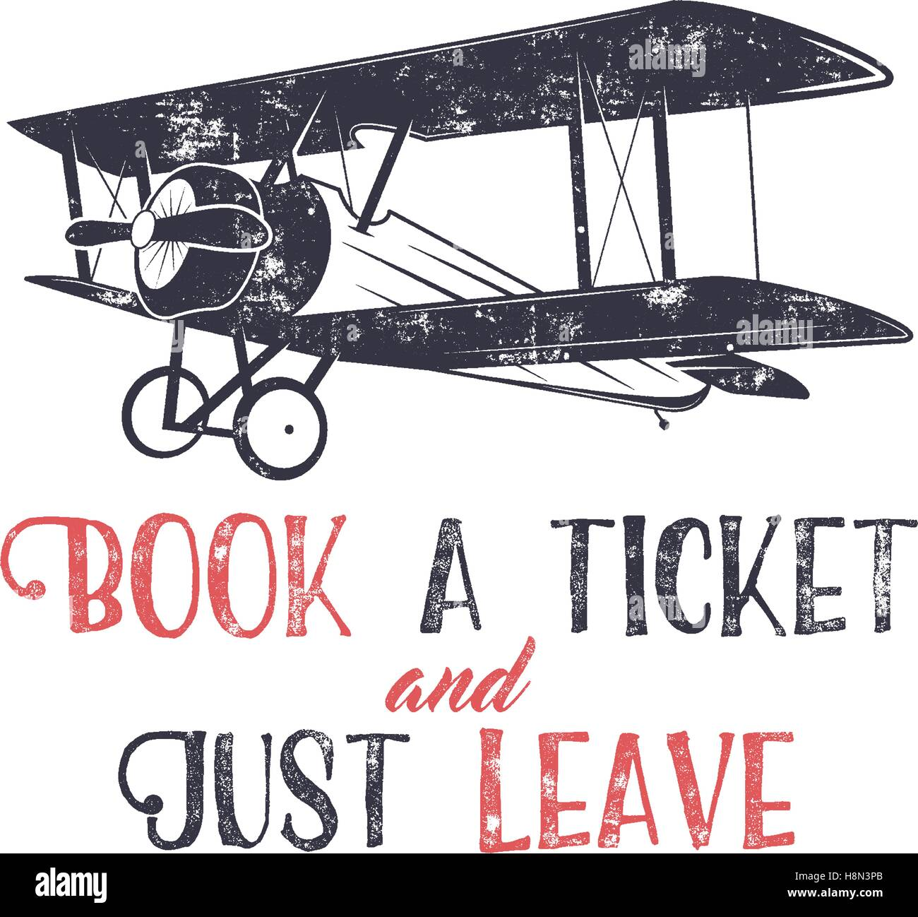 T shirt design inspiration typography - Stock Vector Vintage Airplane Typography Poster Lettering And Old Biplane Symbol For Printing Vector Inspiration Tee Design Retro T Shirt Print Design