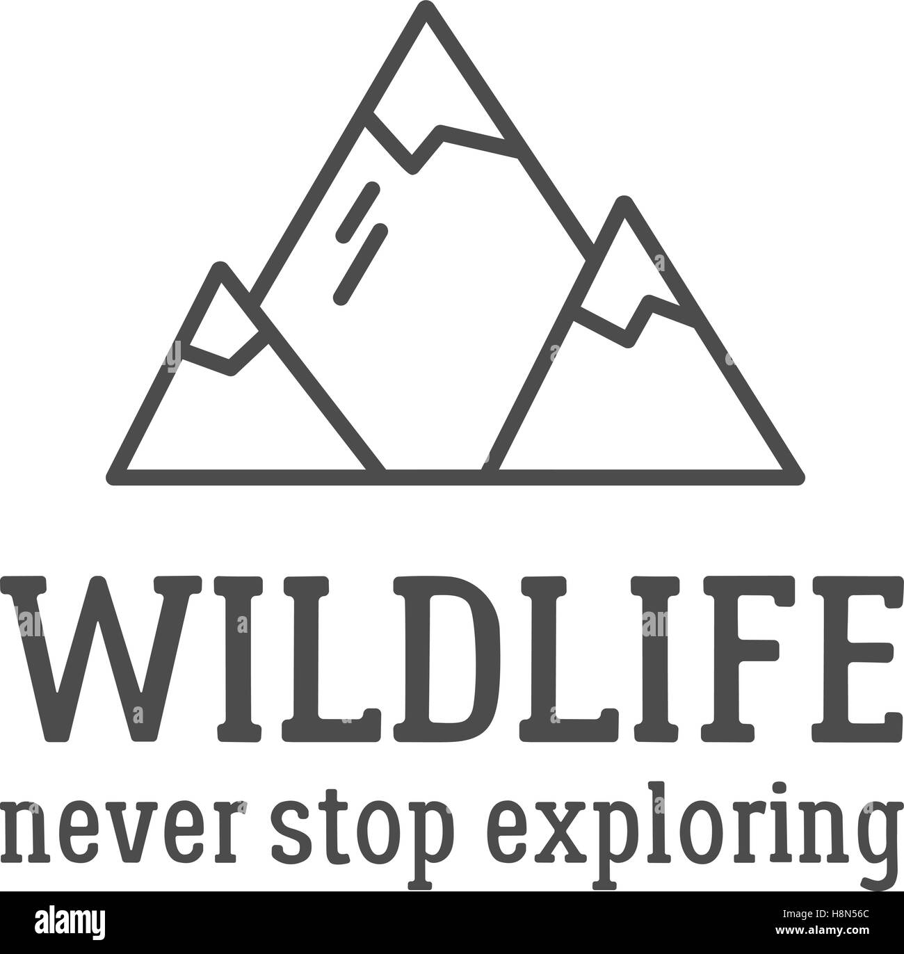 camping logo design with typography and travel elements