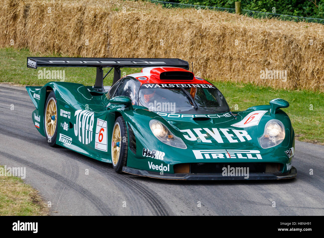 1998 porsche 911 gt1 98 le mans racer with driver nick trott at the stock photo royalty free. Black Bedroom Furniture Sets. Home Design Ideas