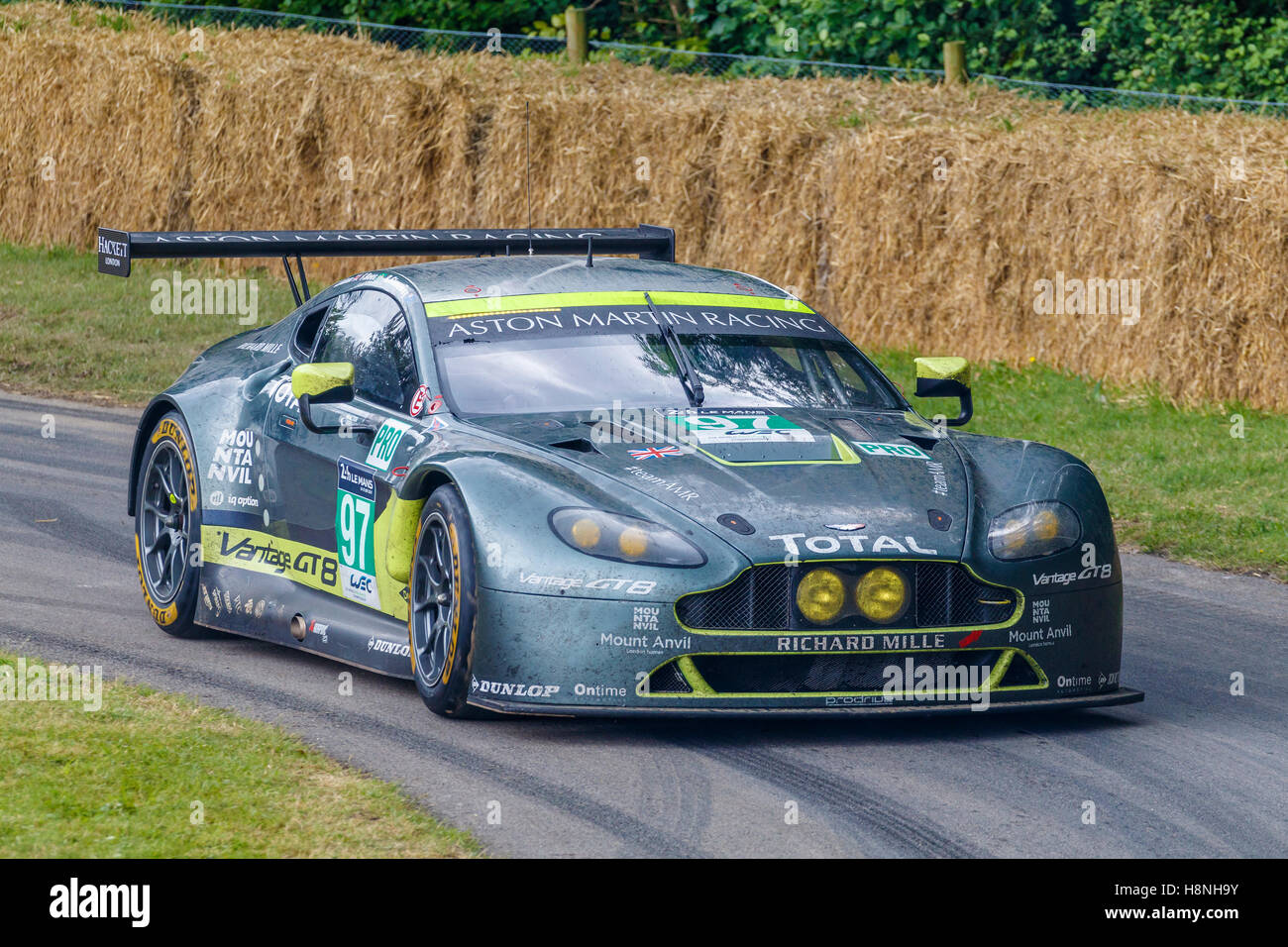 2016 aston martin v8 vantage gte with driver marco sorensen at the