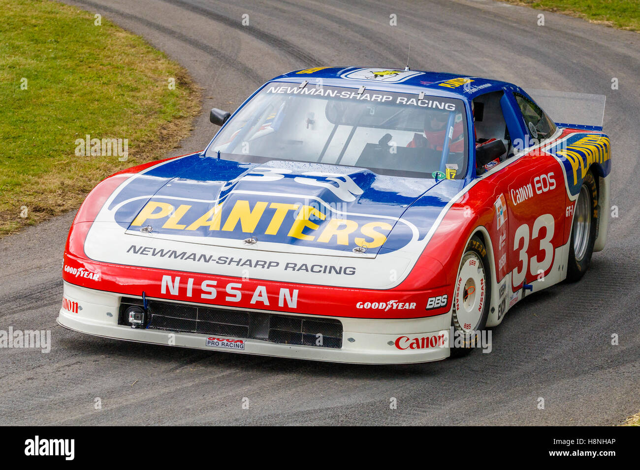 1987 nissan 300zx imsa gto with driver adam carolla at the 2016 goodwood festival of speed sussex uk