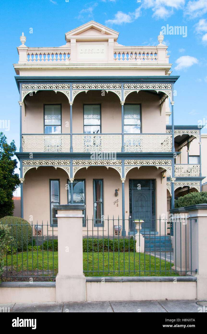 Victorian era double storey brick home in melbourne for Double storey victorian homes
