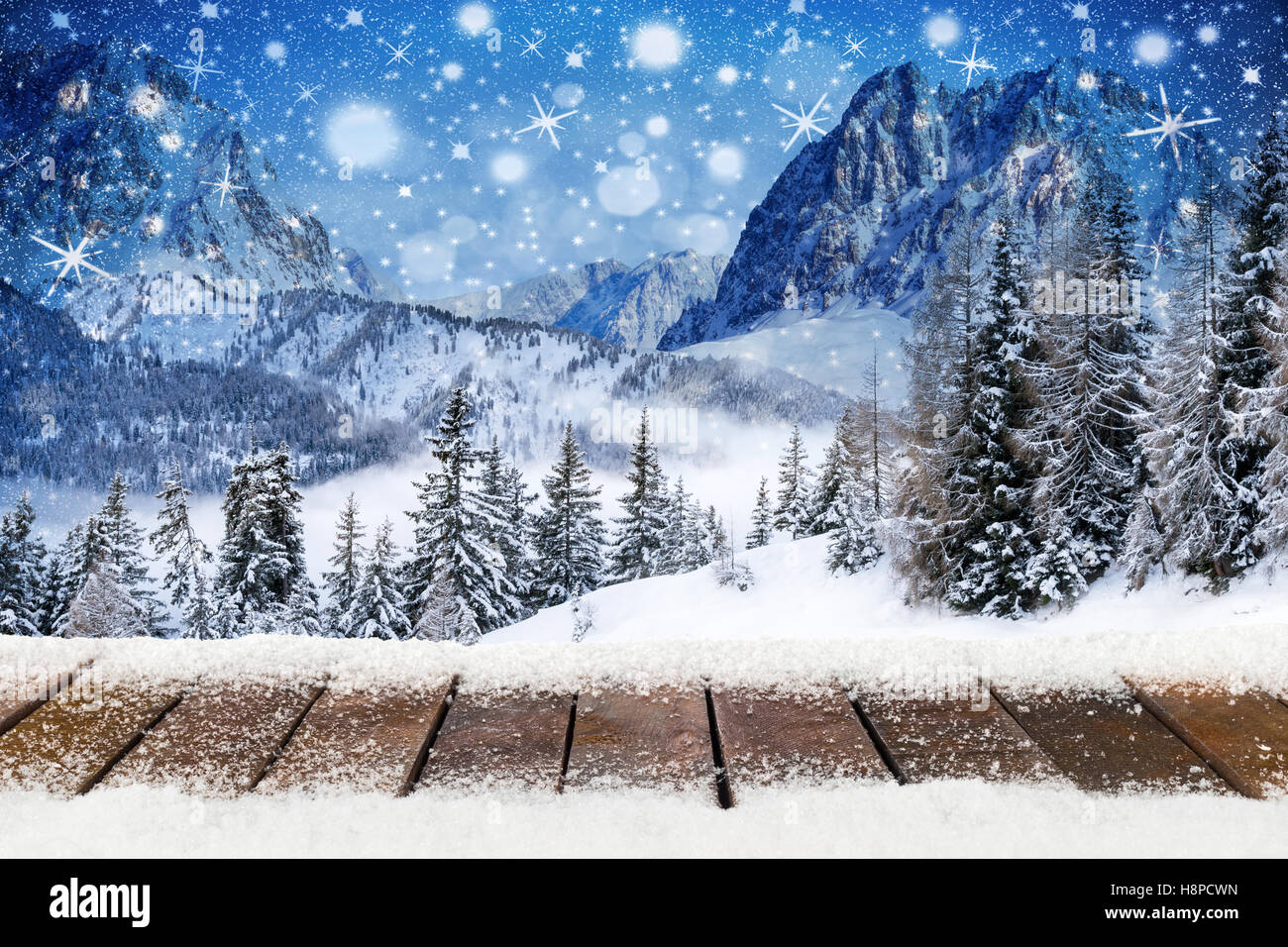 Mountain Christmas Tree